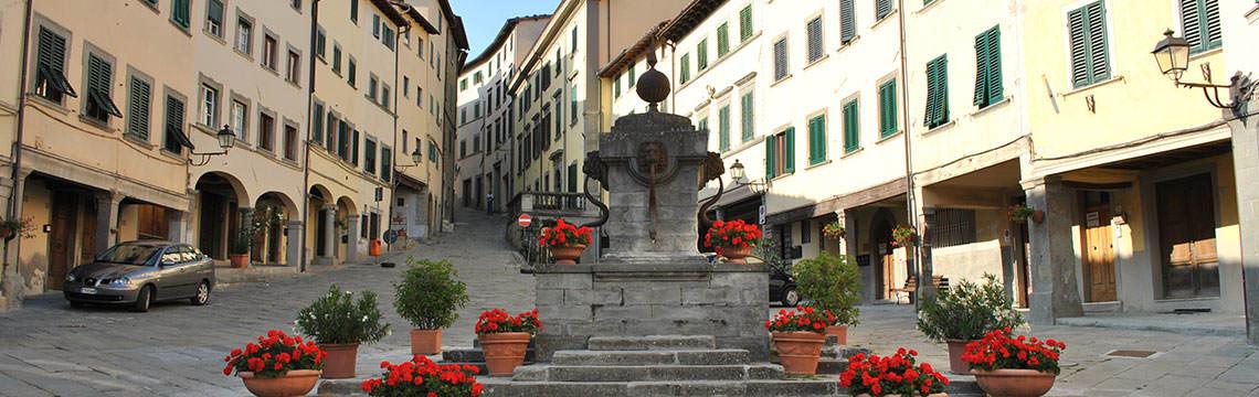 Lo scorcio del borgo storico di Pratovecchio Stia
