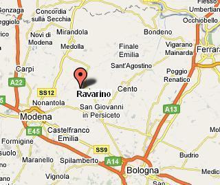 Mappa stradale di Ravarino