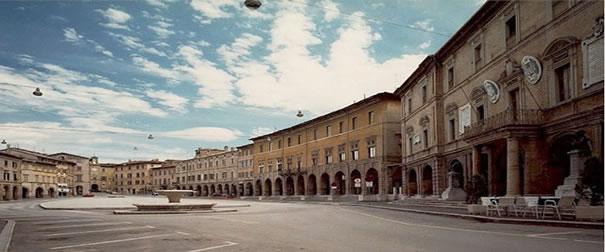 Panorama del centro storico di San Severino Marche