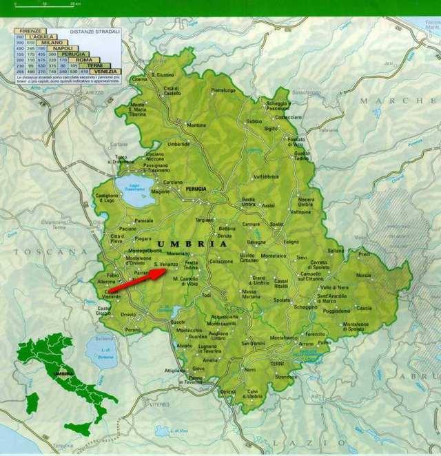 La mappa con San Venanzo