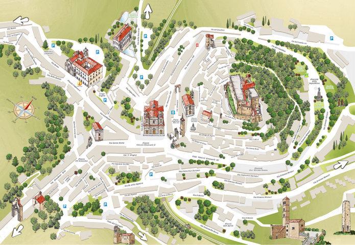 La mappa del borgo di Soriano nel Cimino