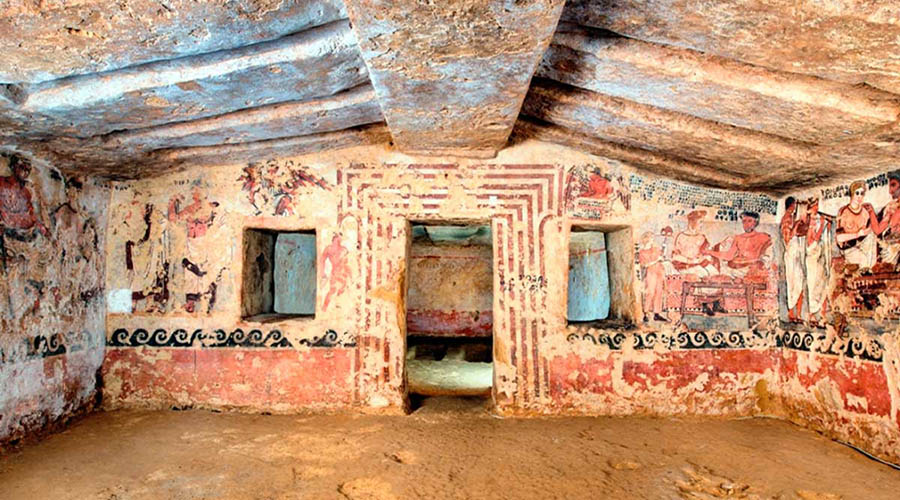 La tomba degli Scudi di Tarquinia