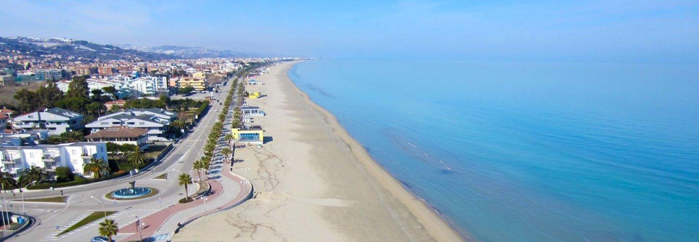 Il panorama della spiaggia di Tortoreto
