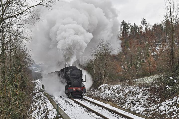 Il treno a vapore con la neve di Vaglia