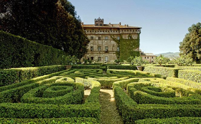 Il giardino del castello Ruspoli di Vignanello