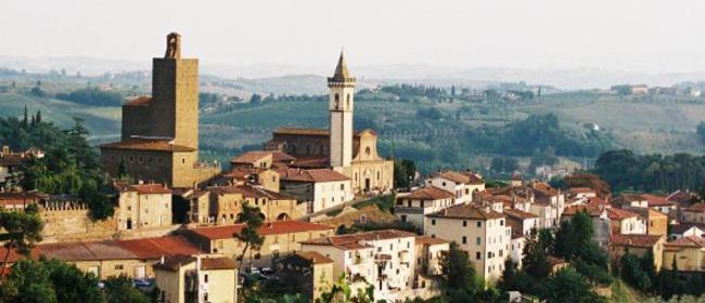 Il panorama del borgo storico di Vinci