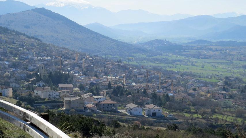 Il panorama del borgo di Barisciano