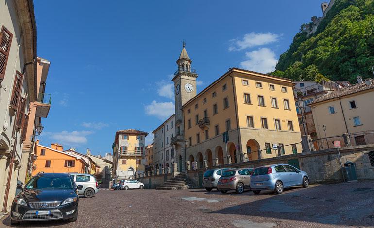 Borgo Maggiore nella Repubblica di San Marino