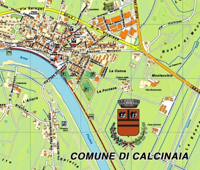 La cartina del comune di Calcinaia