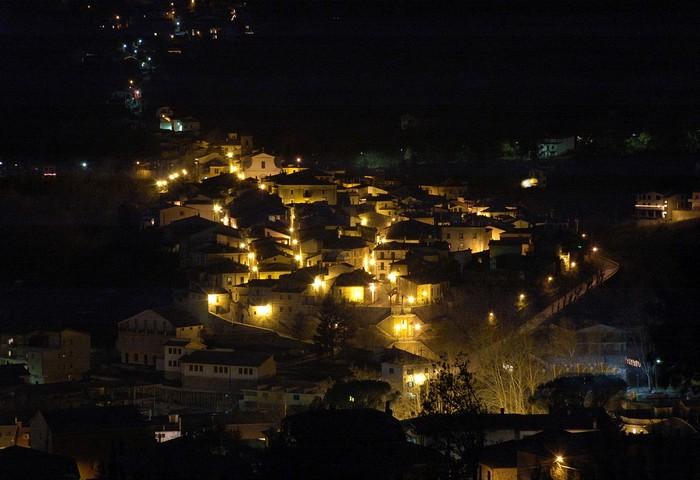 Il panorama notturno di Civitella Roveto