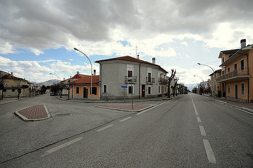 Lo scorcio del borgo di Collarmele