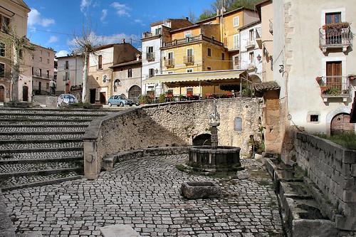 Uno scorcio del borgo di Fontecchio