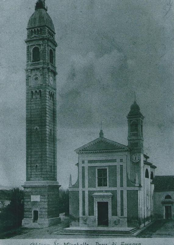 Un'immagine antica della chiesa Parro di Mirabello