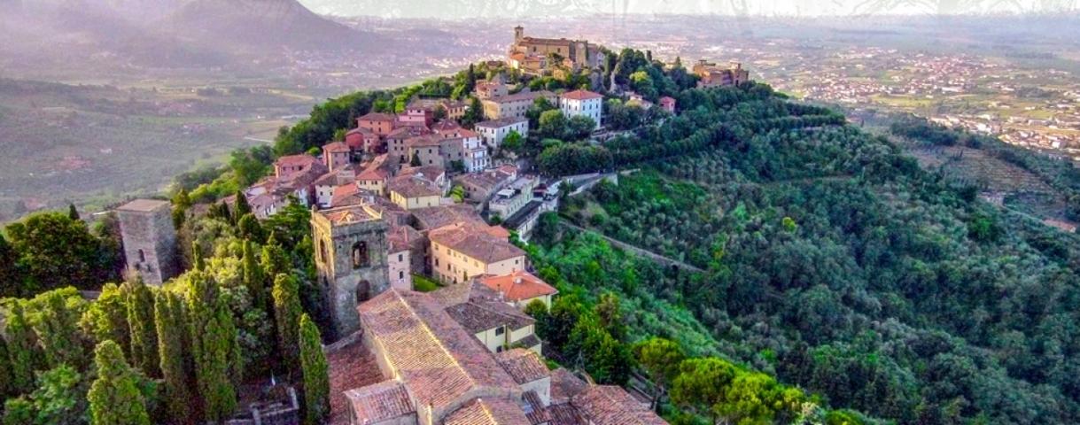 Il panorama del borgo di Montecatini Terme
