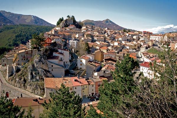 Il panorama del borgo di Ovindoli