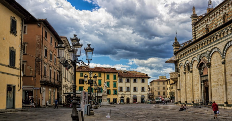 Uno scorcio del centro storico di Prato