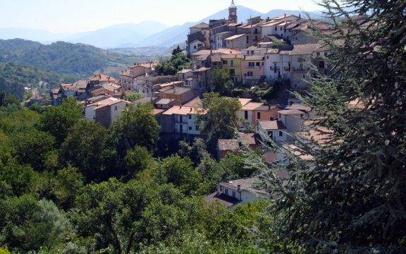 Il panorama del borgo di Sante Marie