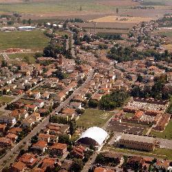 Un panorama del territorio comunale di Vigarano Mainarda