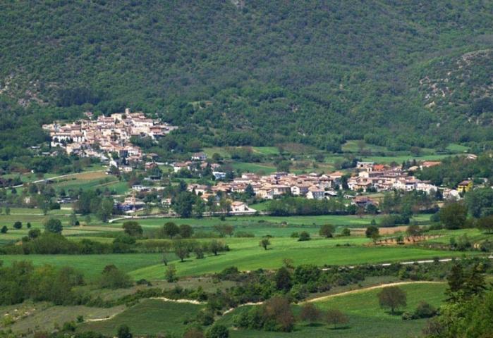 Il panorama della vallata di Villa Sant'Angelo