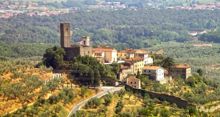 Il panorama del borgo di Larciano