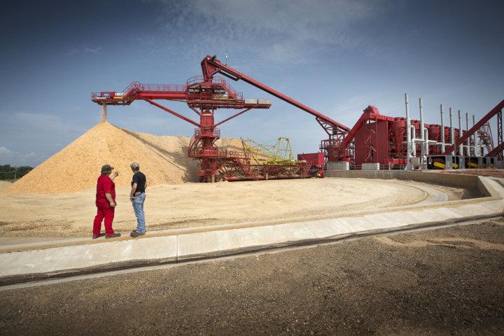 Un moderno ed ecologico impianto per la produzione del pellet