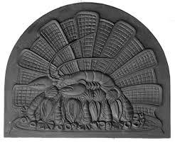 Lastra, piastra, piana di ghisa decorata per camino