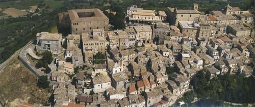 Un'immagine aerea di Bucchianico