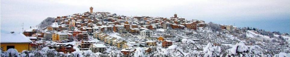 Un'immagine di Monteodorisio con la neve