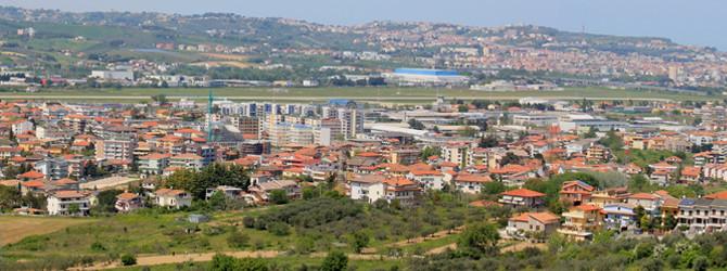 Il panorama della città di San Giovanni Teatino