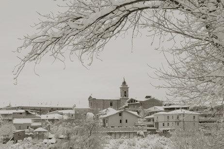 Il panorama con la neve di Torrevecchia Teatina