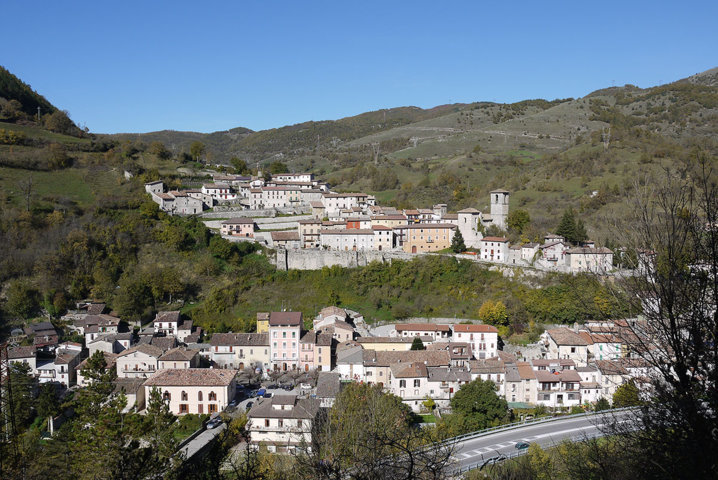 Il panorama del borgo di Borgo Velino