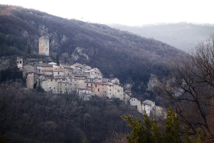 Il panorama del borgo di Castel Sant'Angelo