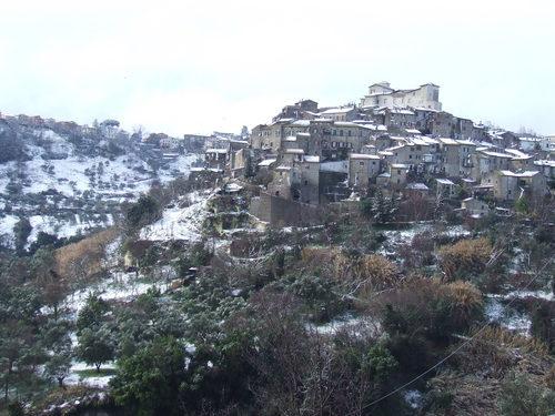 Castelnuovo di Porto con la neve