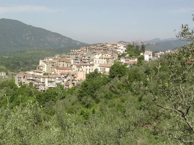 Il panorama del borgo di Gerano
