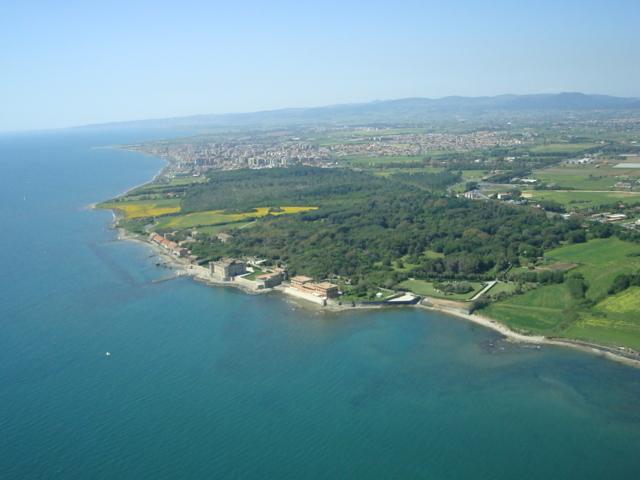 Un'immagine aerea di Ladispoli