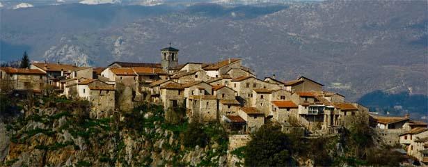 Il panorama del borgo di Pescorocchiano