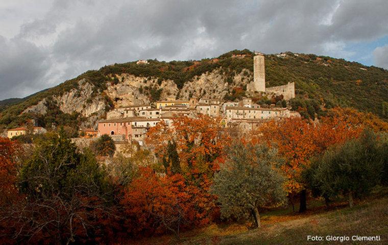 Il panorama del borgo di Poggio Catino