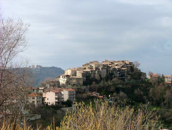 Il panorama del borgo di Poggio Nativo