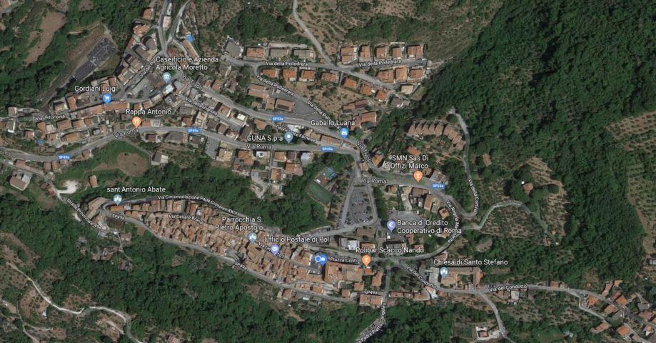 La mappa del borgo di Poli