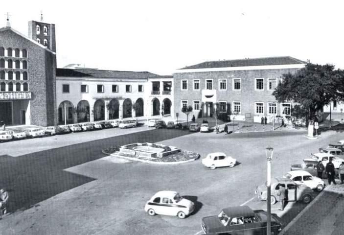 Un'immagine storica di Pomezia