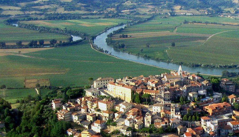Un'immagine aerea di Ponzano Romano
