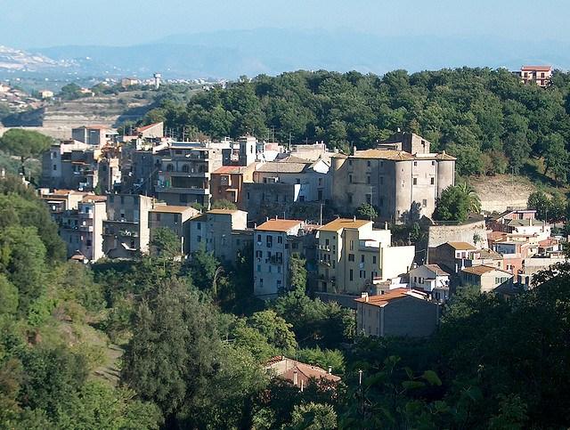 Il panorama del borgo di Riano