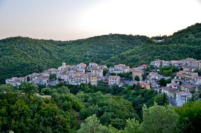 Il panorama del borgo di Rivodutri