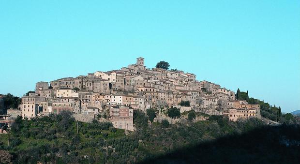 Il panorama del borgo di Salisano
