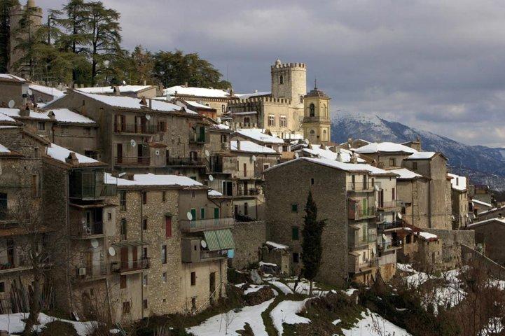 Il borgo innevato di Stimigliano