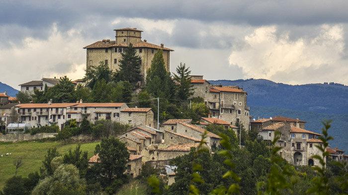 Il panorama del borgo di Varco Sabino