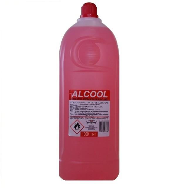 Una bottiglia di alcool etilico