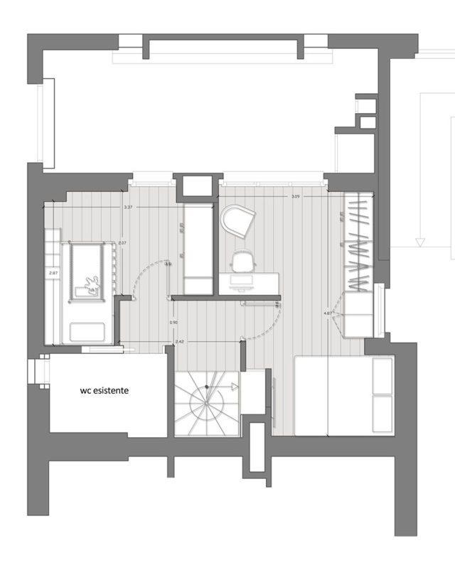 La distribuzione degli spazi di un appartamento