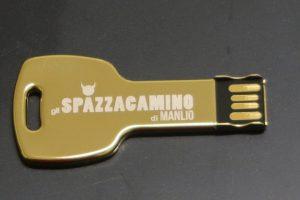 La chiavetta USB personalizzata de gli spazzacamino di manlio