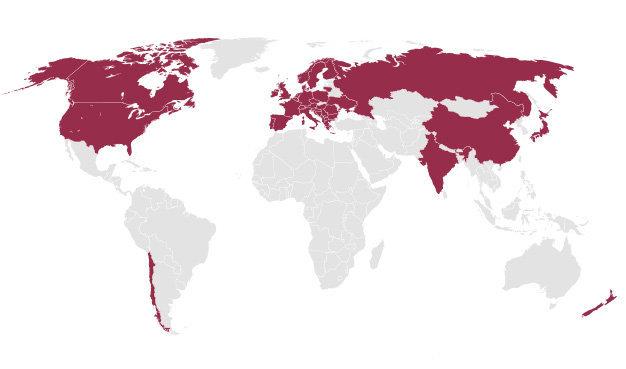 Lo schema dei paesi consumatori del pellet